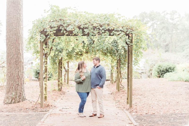 A Downtown Birmingham & Botanical Garden Fall Engagement Session
