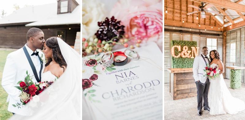 Nia & Charodd Tie the Knot at The Barn at Shady Lane