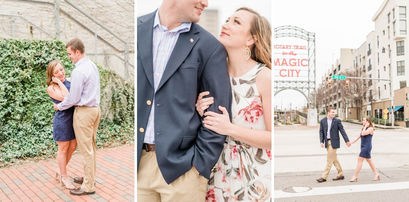 Celebrating Hunter & Grace's Engagement in Downtown Birmingham, Alabama