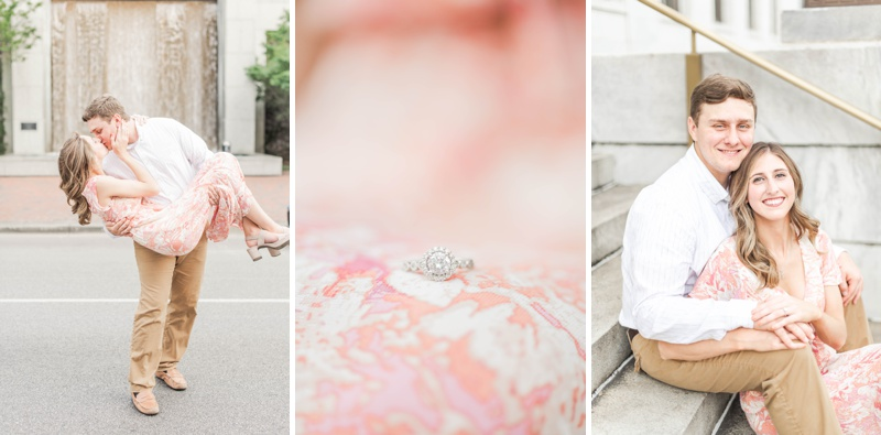 A Downtown Birmingham Alabama Summer Engagement Session